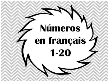 French Number Posters 0-20