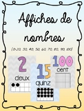 French Number Posters (1-20, 30, 40, 50, 60, 70, 80, 90, 100)