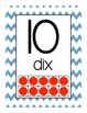French Number Posters / Affiches des numéros en français 0-20