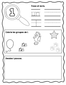 French Number Practice - Pack #1