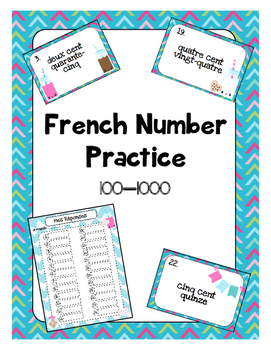 French Number Practice - Task Cards
