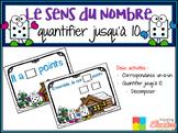 French Number Sense Game - Jeux de numératie d'hiver - Quantifier jusqu'à dix