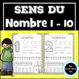 French Number Sense Worksheets 1 to 10 |Sens du Nombre 1 à