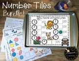 French Math Number Tiles First Grade Math Bundle for the Year