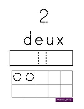 French Number Tracing
