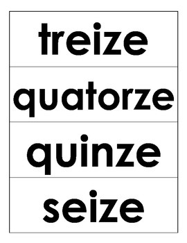 French Number Words 1-20