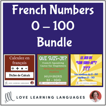 French Numbers 0 - 100 BUNDLE
