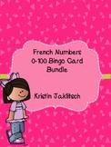French Numbers 1-100 Bingo Card Bundle