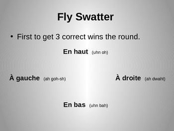 French Numbers 0-100 Flywatter Review Game
