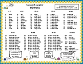 French Numbers 0-1000 Handout