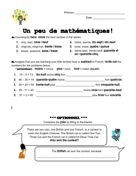 French Numbers 0-60 - Un peu de mathematiques