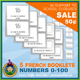 French Numbers 0 to 100 • 5 Reading & Writing Booklets • A