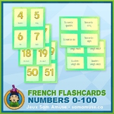 French Numbers 0 to 100 Flash Cards • 3 styles included •