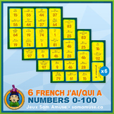 French Numbers 0 to 100 J'ai/Qui a Card Game Bundle • Circ