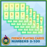 French Numbers 0 to 100 Playing Cards • Card Game • Abstra