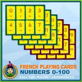 French Numbers 0 to 100 Playing Cards • Card Game • Circus Theme