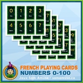 French Numbers 0 to 100 Playing Cards • Card Game • Jungle Theme