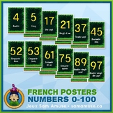 French Numbers 0 to 100 Word Wall • Vertical 1/2 Page Post