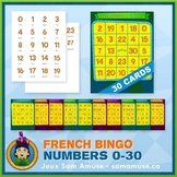 French Numbers 0 to 30 Bingo Game • 30 Cards • Circus Theme