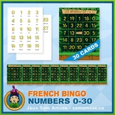 French Numbers 0 to 30 Bingo Game • 30 Cards • Jungle Theme