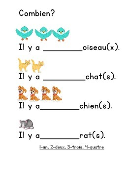 French Numbers 1-10