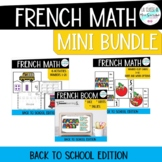 French Numbers 1-10 Activities BUNDLE I Back to school edition