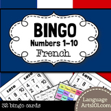 French Numbers 1-10 Bingo Game | Loto - Nombres 1-10 en français