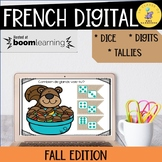 French Numbers 1-10 Boom Cards Fall Edition