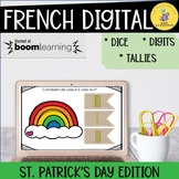 French Numbers 1-10 Boom Cards I St. Patrick's Day Distance Learning