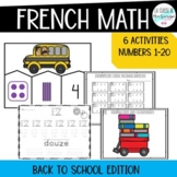 French Numbers 1-10 Math activities I Back to school edition