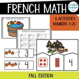 French Numbers 1-10 Math activities I Fall edition