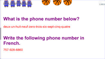 French Numbers 1-10 Practice