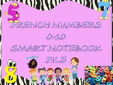 French Numbers 1-10 Practice SMART NOTEBOOK File