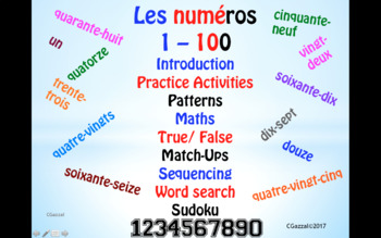 French Numbers, 1 – 100.
