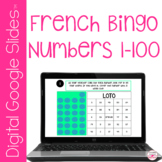 French Numbers 1-100 Digital Bingo Game