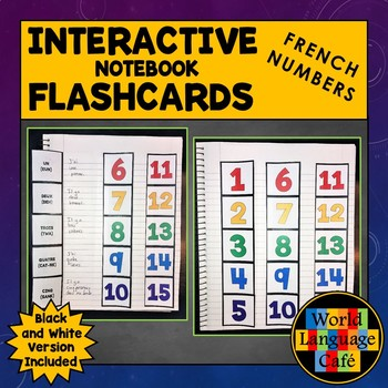 French Numbers 1-100 Flashcards, Interactive Notebook Flashcards, 1-1,000,000