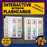 French Numbers 1-100 Flashcards, Interactive Notebook Flas