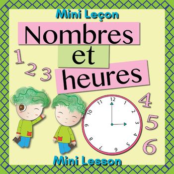French Numbers (1-12) and Time Booklet