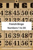 French Bingo: Numbers 1-20