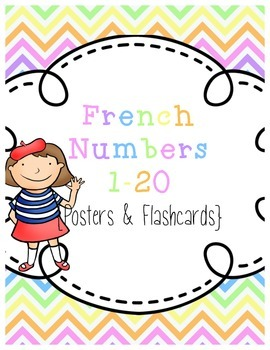 French Numbers 1-20 {Posters & Flashcards}