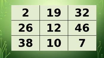French Numbers 1-50 Tic Tac Toe