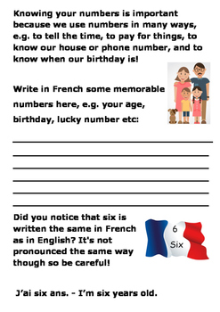French Numbers 1 to 10 Word Search
