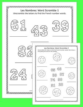 French Numbers Nombres 20 - 100 Puzzles - 4 different types