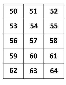 French Numbers 50-100 Flashcards