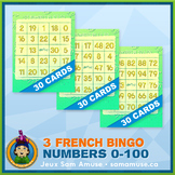 French Numbers 0 to 100 Bingo Bundle • 3 types included •