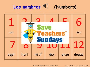 French Numbers, Birthdays & Name Days Unit (6 lessons) - All lessons have AUDIO