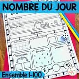 French Number of the Day Bundle - Nombre du jour - les nombres 1-100 (Ensemble)