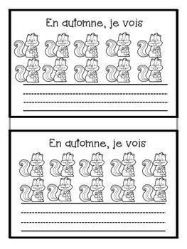 French Autumn Vocabulary and Number Words Activity en Francais Automne