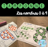 French Numbers Dab a dot/ Atelier Tamponnage {Chiffres}