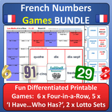 French Numbers 1-100 Games BUNDLE